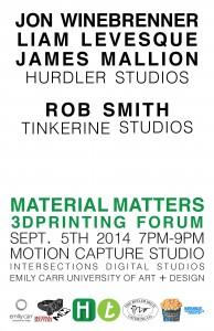 September 5 Material Matters Poster V3